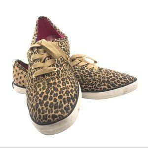 Keds Leopard Print Sneakers Pink Interior Sz 7M